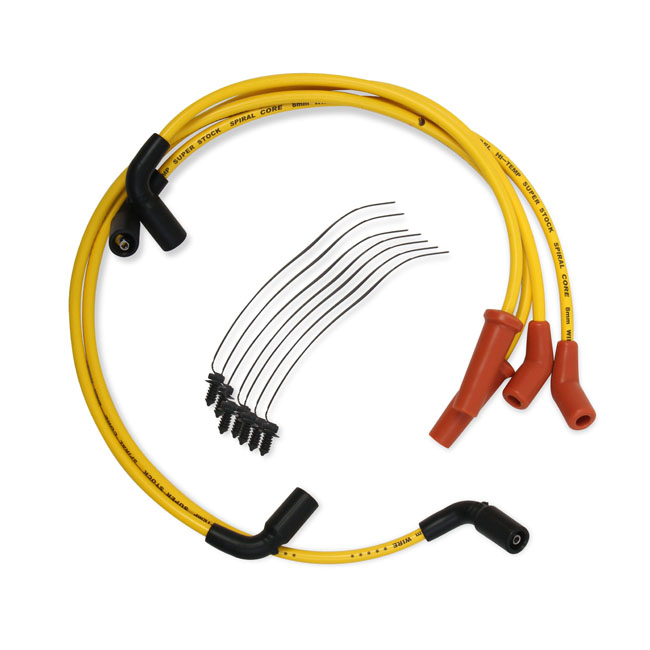 Accel 8mm S/S Spiral core wire yellow,bkr.mcsh.576350