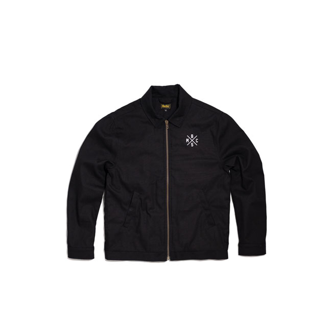 BSMC Embroidered Canvas Jacket black,bkr.mcsh.597497