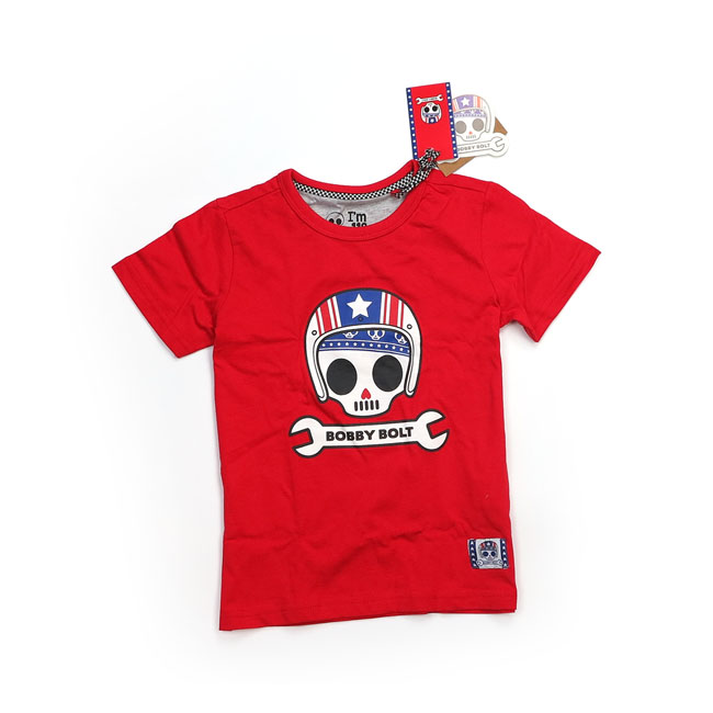 Bobby Bolt USA T-shirt red,bkr.mcsh.906158