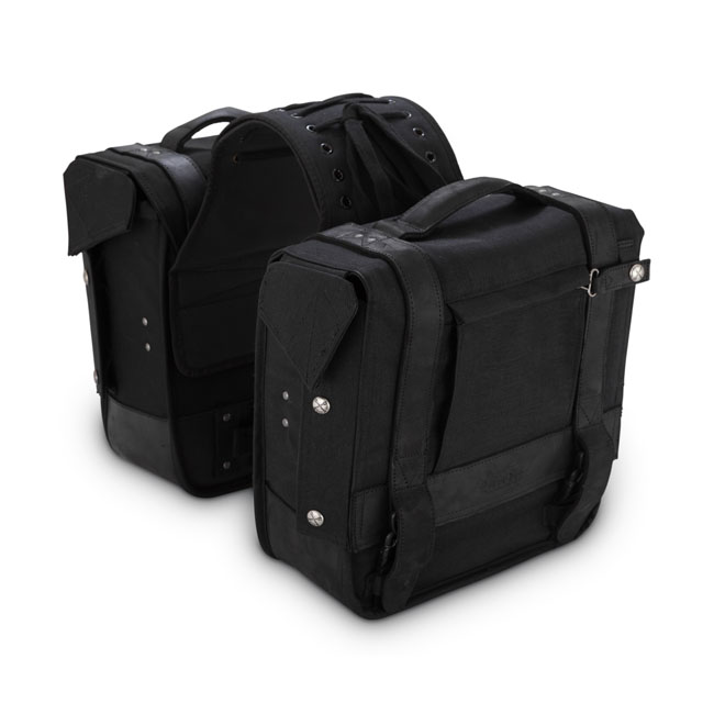 Burly Voyager throw-over saddlebags black,bkr.mcsh.571757