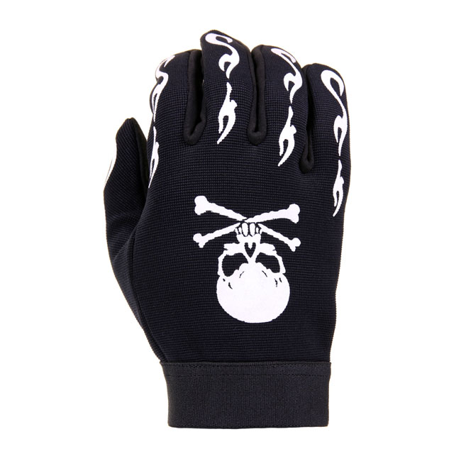CHOPPERS MECHANIC GLOVES SKULL/BONES,bkr.mcsh.545310