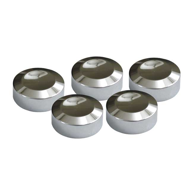 CHROME REAR PULLEY BOLT COVER KIT,bkr.mcsh.990260