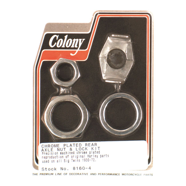 COLONY AXLE NUT AND LOCK KIT,bkr.mcsh.513365