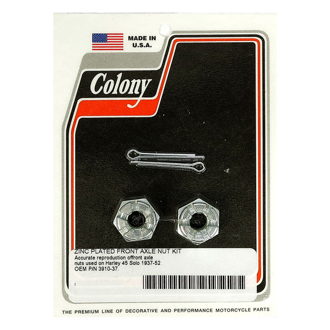 COLONY AXLE NUT KIT. FRONT,bkr.mcsh.989355