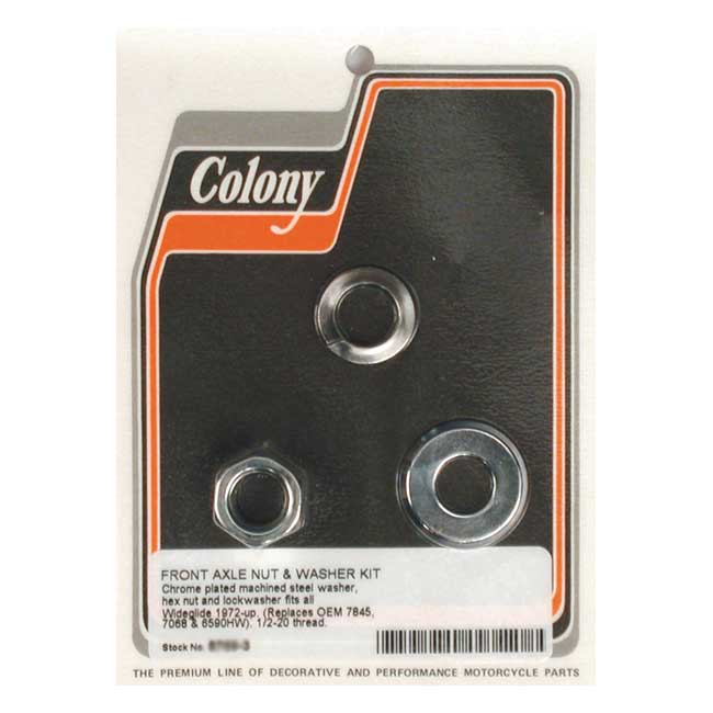 COLONY AXLE NUT & WASHER KIT,bkr.mcsh.989364