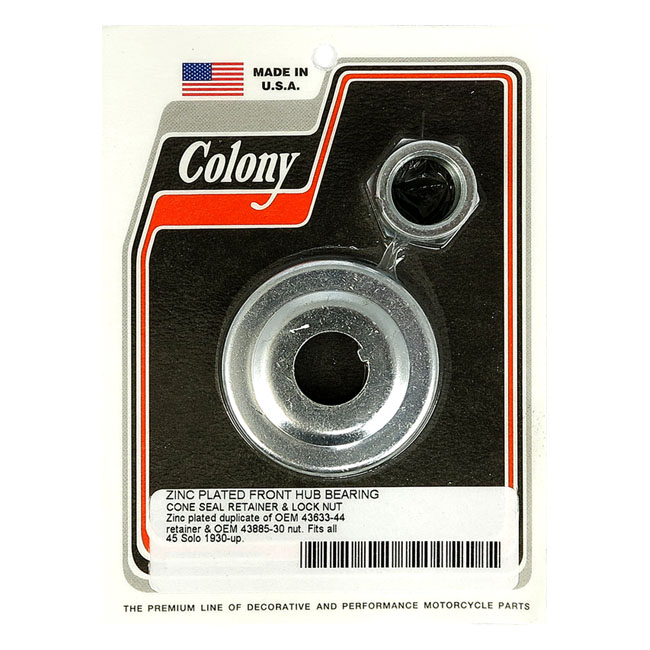 COLONY BEARING CONE SEAL RET. & NUT,bkr.mcsh.990117
