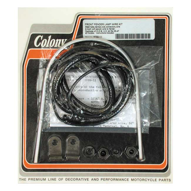 COLONY FENDER LAMP WIRE KIT,bkr.mcsh.989660