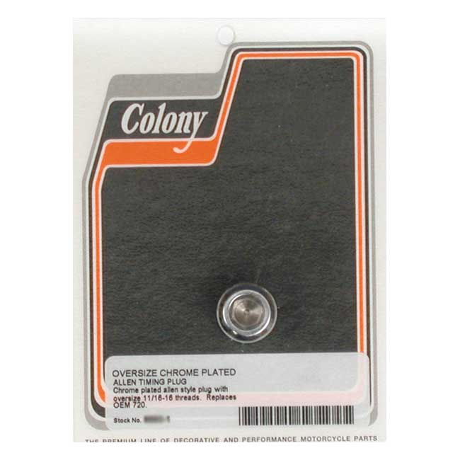 COLONY O.S. TIMING PLUG ONLY,bkr.mcsh.989287