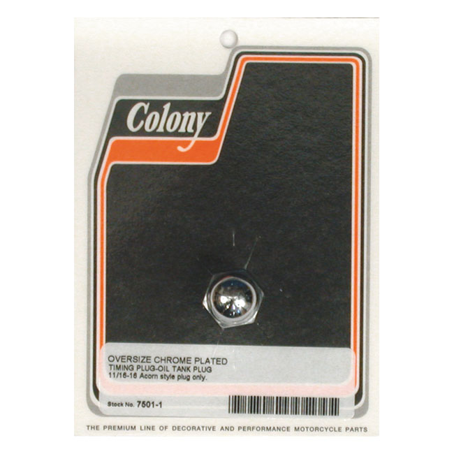COLONY O.S. TIMING PLUG ONLY,bkr.mcsh.512920