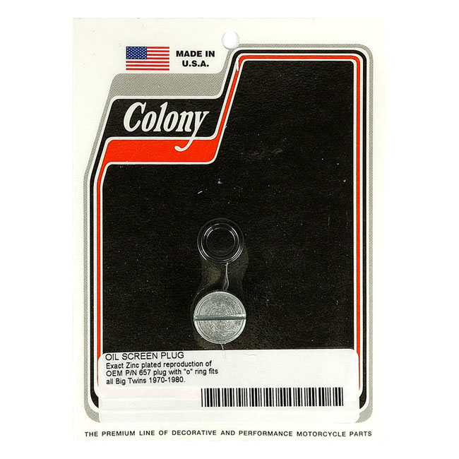 COLONY PLUG, OIL SCREEN CRANKCASE,bkr.mcsh.929677