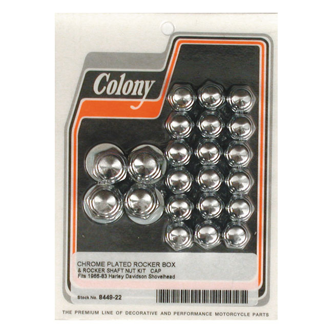 COLONY ROCKER BOX NUT KIT, CAP STYLE,bkr.mcsh.500705