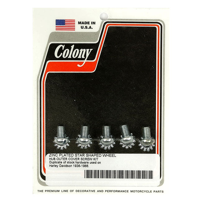 COLONY STAR HUB SCREWS & WASHER SET,bkr.mcsh.989553
