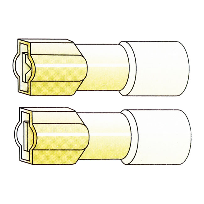 CONNECTORS, SLIDE-ON TERMINAL, YELLOW,bkr.mcsh.951683