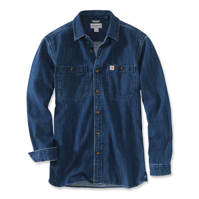 Carhartt Denim long sleeve shirt Levee,bkr.mcsh.588944