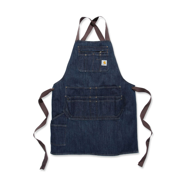 Carhartt denim apron dark blue ridge,bkr.mcsh.578728