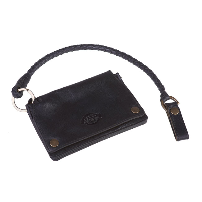 Dickies BARREN SPRINGS leather wallet black with key chain,bkr.mcsh.571755