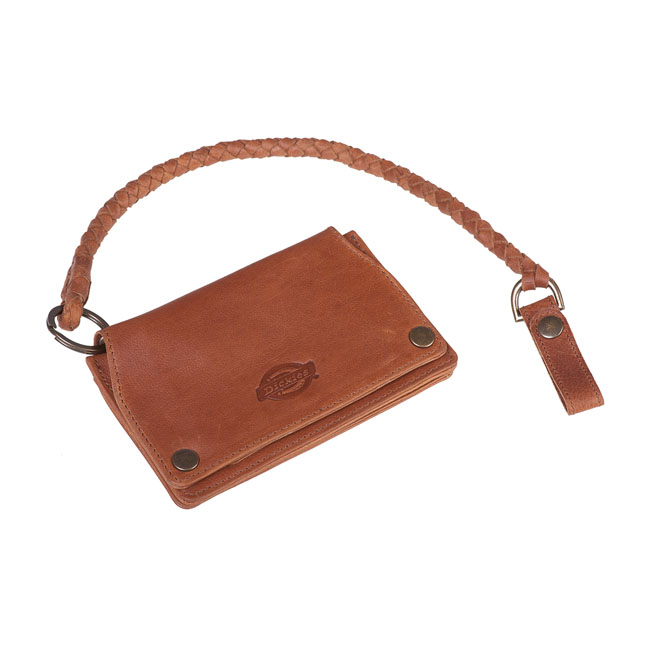 Dickies BARREN SPRINGS leather wallet brown with key chain,bkr.mcsh.571756