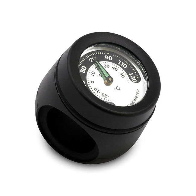 HANDLEBAR MOUNTED THERMOMETER, BLACK,bkr.mcsh.915427