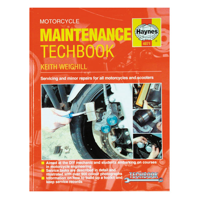 HAYNES MOTORCYCLE MAINTENANCE TECHBOOK,bkr.mcsh.517751