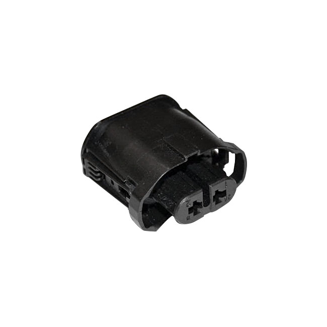 HOUSING SOCKET 2-WAY, BLACK,bkr.mcsh.951395