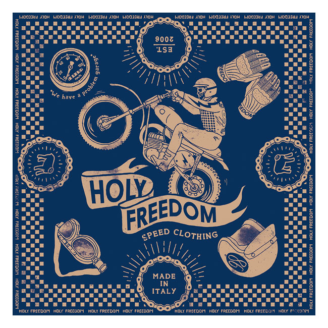 Holy Freedom Cross navy scarf,bkr.mcsh.575926