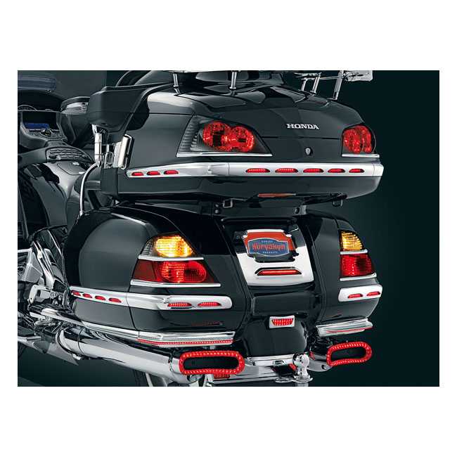 Kuryakyn trunk taillight accents chrome,bkr.mcsh.8080343