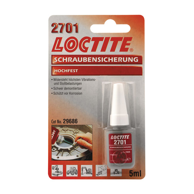LOCTITE 2701 RED, THREADLOCKER 5CC,bkr.mcsh.586008
