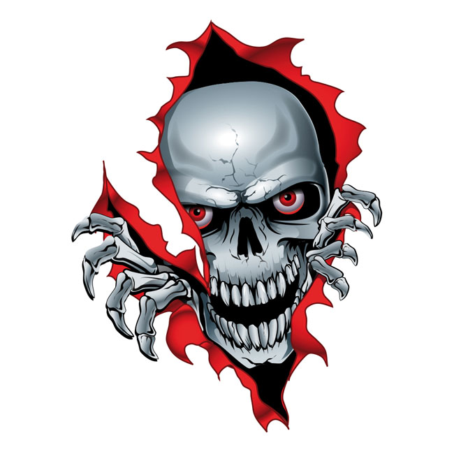LT MINI DECAL RIP SKULL,bkr.mcsh.595062