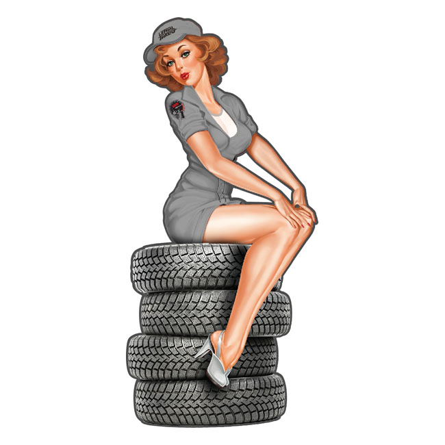 LT MINI DECAL USA TIRE BABE,bkr.mcsh.595129