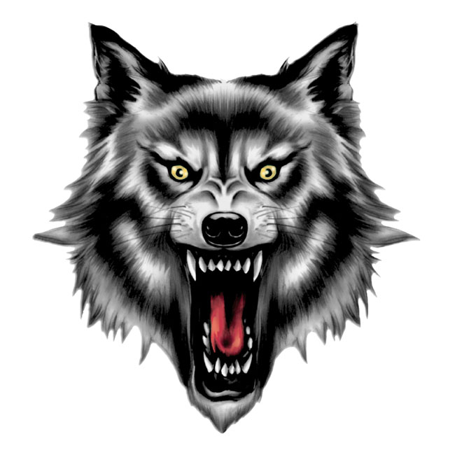 LT MINI DECAL WOLF HEAD,bkr.mcsh.595065