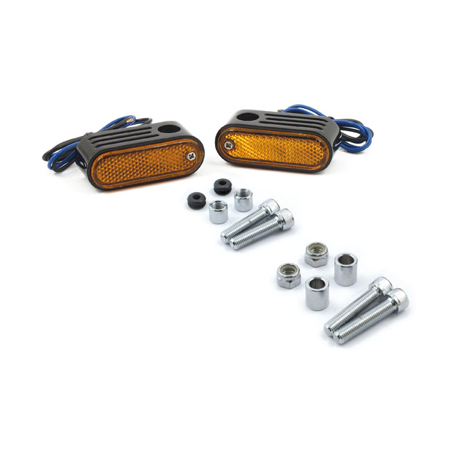 Lango side lighters, turn signals. Amber lens,bkr.mcsh.930696