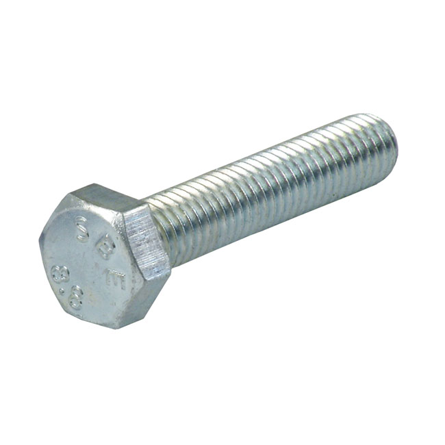 M6 X 50MM HEX BOLT, ZINC,bkr.mcsh.523950