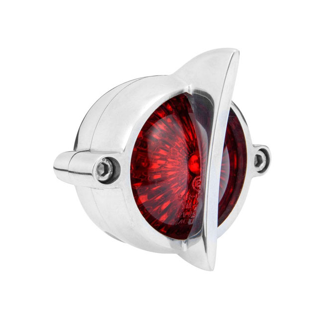Motone, Cuda taillight. Polished, no bracket. ECE,bkr.mcsh.591252