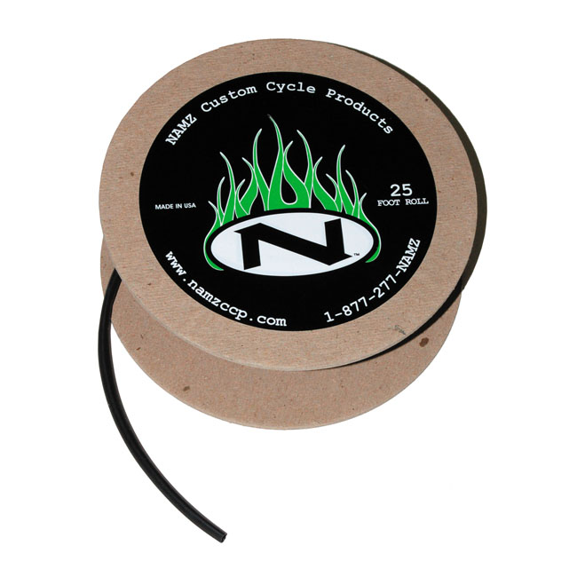 NAMZ BLACK HEAT SHRINK TUBE 25FT ROLL,bkr.mcsh.548132