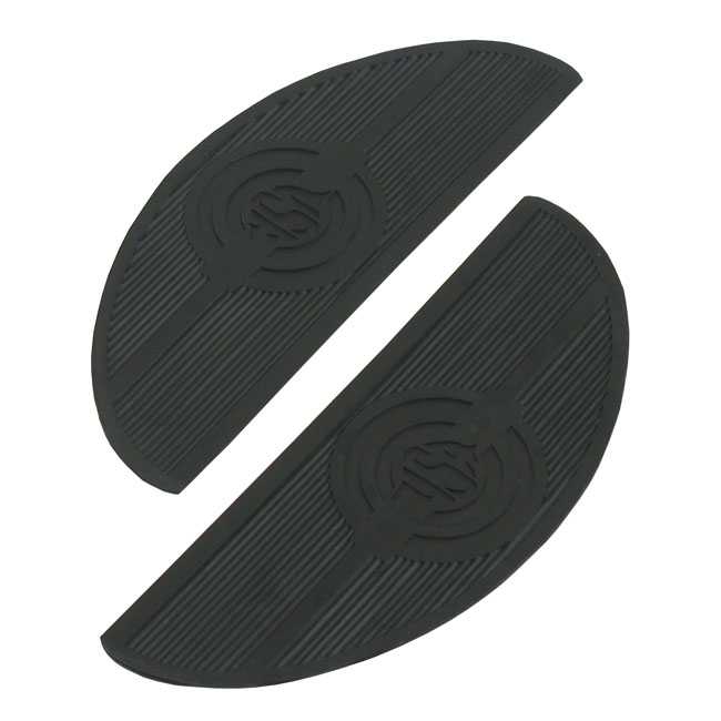 OVAL REPL. PADS, FLOORBOARDS. BLACK,bkr.mcsh.515280
