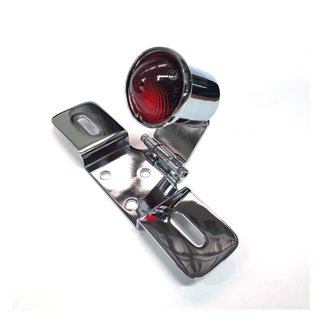 Old School LED taillight #6, chrome,bkr.mcsh.578100