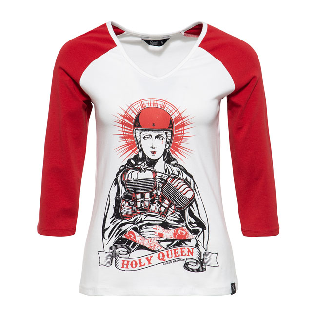 Queen Kerosin Raglan 3/4-sleeve Holy Queen offwhite/red,bkr.mcsh.587660