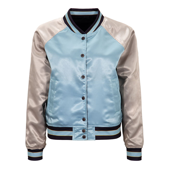 Queen Kerosin satin jacket turquoise/antique white,bkr.mcsh.577811