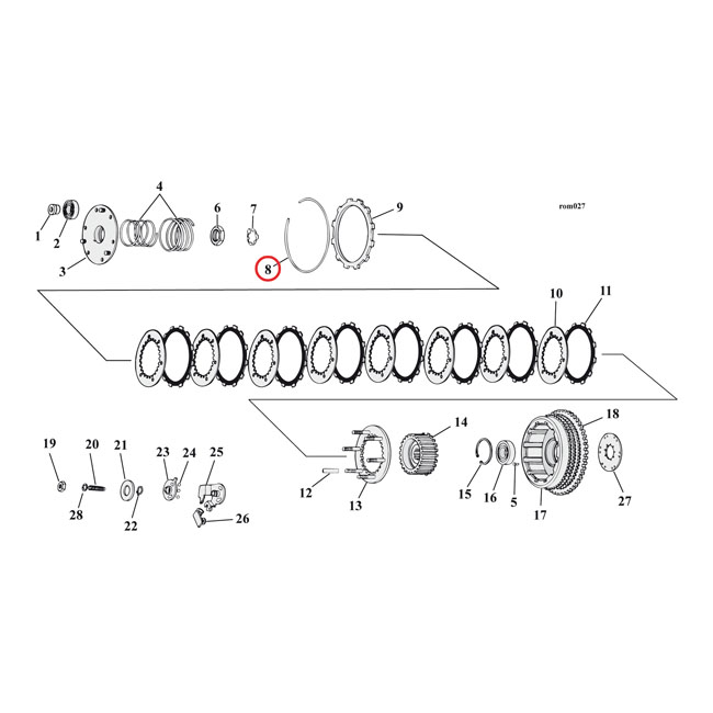 RETAINING RING, CLUTCH PLATES,bkr.mcsh.911053