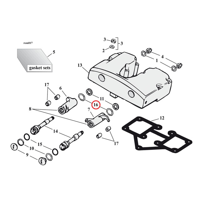 ROCKER ARM SHIMS, .007 INCH,bkr.mcsh.501841