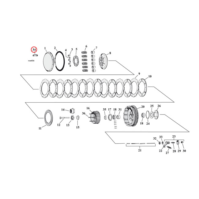 SCREW RETAINERS, CLUTCH DOME,bkr.mcsh.516607