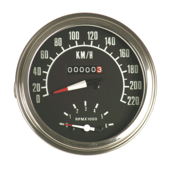 SPEEDOMETER WITH TACHO 73-84 FACE (I),bkr.mcsh.900860