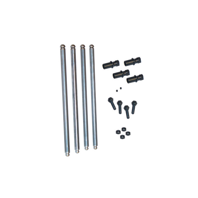 S&S SOLID CHROME MOLY PUSHROD KIT,bkr.mcsh.531326