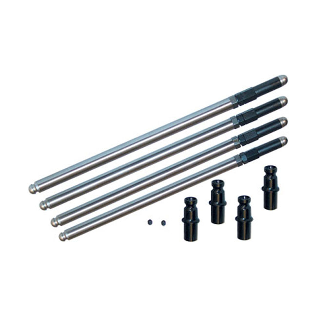 S&S SOLID CHROME MOLY PUSHROD KIT +.188,bkr.mcsh.905016