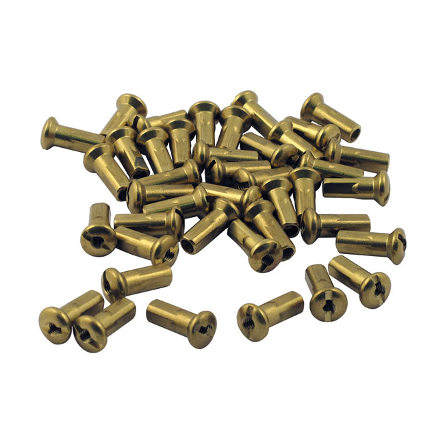 TTS SPOKE NIPPLES, BRASS,bkr.mcsh.520319