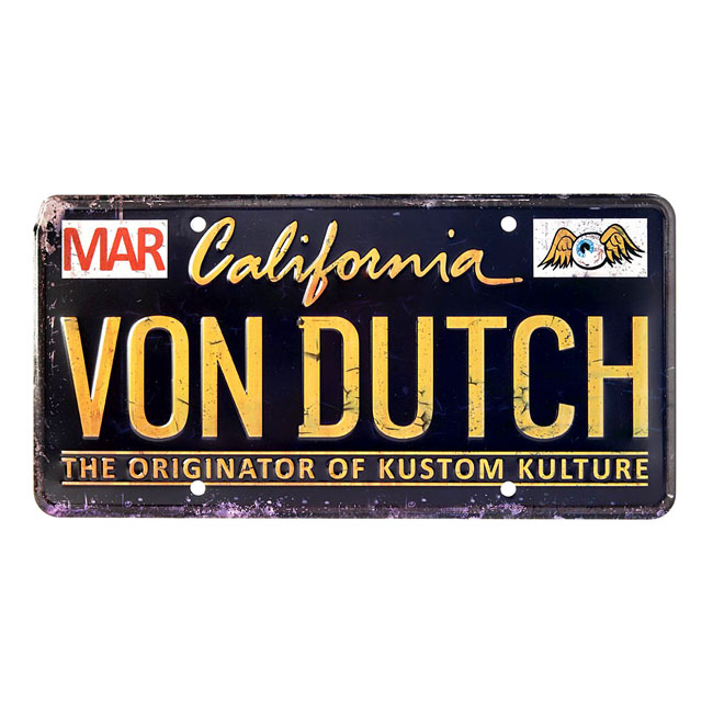 VON DUTCH METAL LICENSE PLATE BLACK,bkr.mcsh.527341