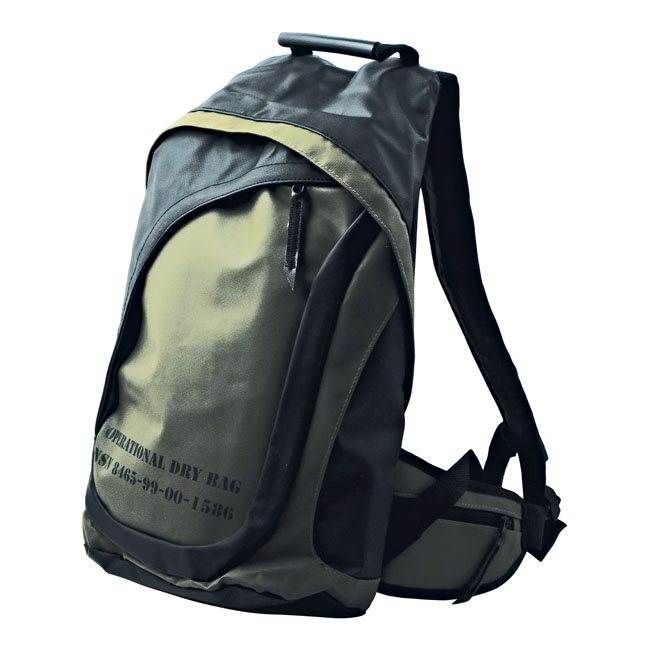WATERPROOF BACKPACK, GREEN,bkr.mcsh.545442