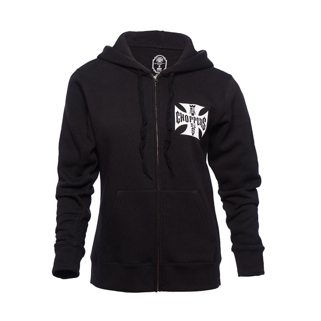 WCC Ladies Cross zip hoodie black,bkr.mcsh.566186