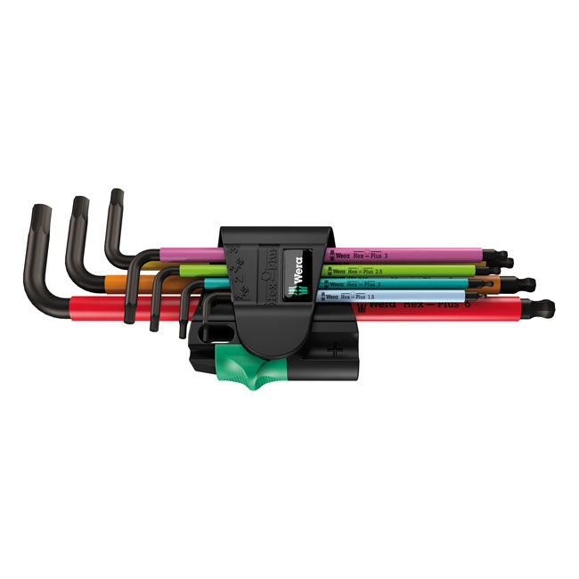 Wera hex key set multicolor Magnet,bkr.mcsh.581753